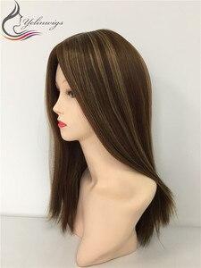 20 дюймов 8 с 14 яркими цветными маленькими слоями европейские волосы шелковые верхние парики индивидуальные парики Бесплатная доставка