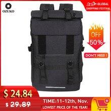 Ozuko novo 40l grande capacidade de viagem mochilas homens carga usb portátil mochila para adolescentes viagem multifuncional masculino saco escolar