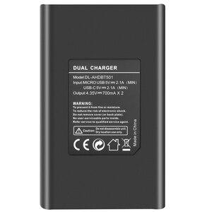 Image 5 - original Probty For Gopro Hero 8 3PACK Battery 2 Slot Charger Kit Storage Box Charger for Gopro Hero 8 7 Black Hero 6