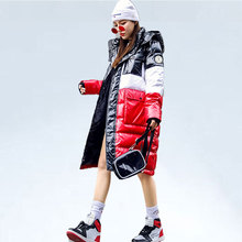 Oversized Down Jacket Coat Women Winter Down Cotton Coats Female Hooded Warm Cotton-padded