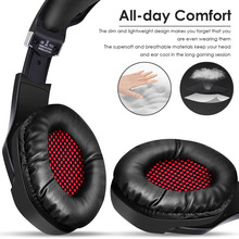Computer Gaming Headset Glowing Stereo Volume Control Headphone for PC Laptop LHB99