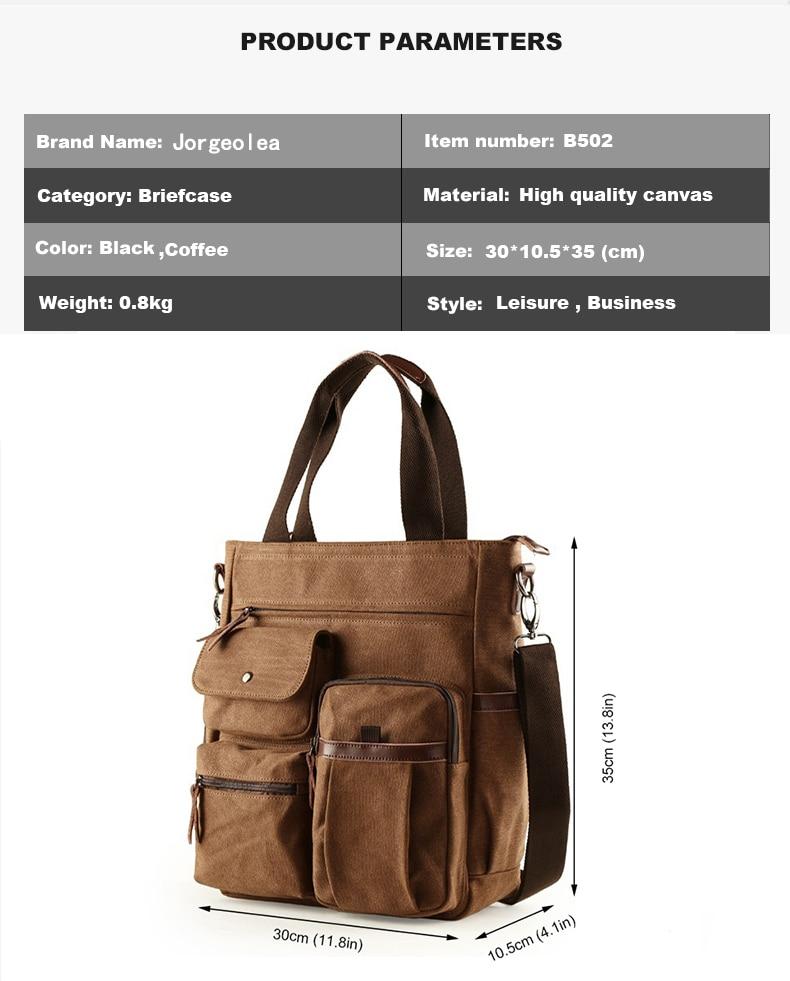 H4e27a42e47af4fdcbf075cdb8f5bf065c Jorgeolea Men Canvas Business Briefcase Versatile Casual Handbag For Men Travel Satchel E502