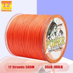 fishing pe line 12 Strands Braided Fishing line 500m Multi Color Super Strong Japan Multifilament PE braid line 35LB 110LB 180LB