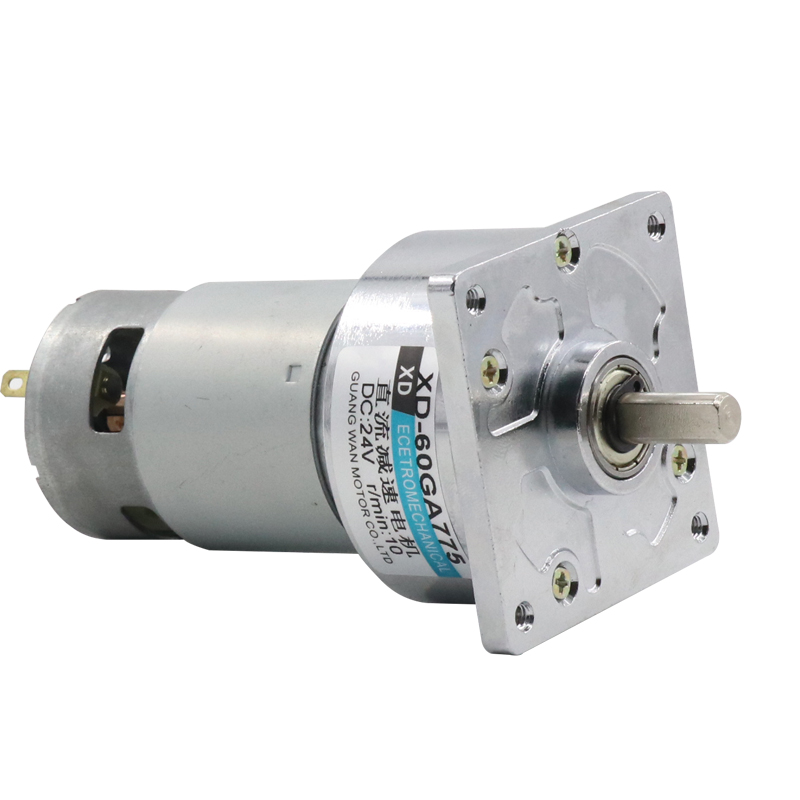 XD-60GA775 getriebe motor 12 V/24 V micro kleine motor 35W hohe drehmoment geschwindigkeit motor langsam geschwindigkeit DC motor Kann einstellen richtung