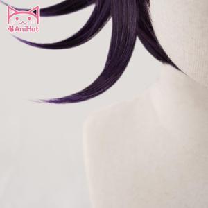 Image 4 - 【أنيها】 أوما كوكيتشي شعر مستعار دانغانرونا V3 شعر مستعار تأثيري الأرجواني الاصطناعية الشعر أوما كوكيتشي تأثيري