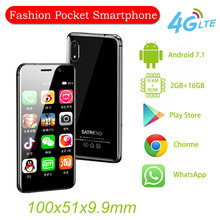 En küçük 4G celular telefon Satrend S11 3.22 inç MTK6739 2GB 16GB Android 7.1 telefone Hotspot WIFI GPS mini çocuk akıllı telefon