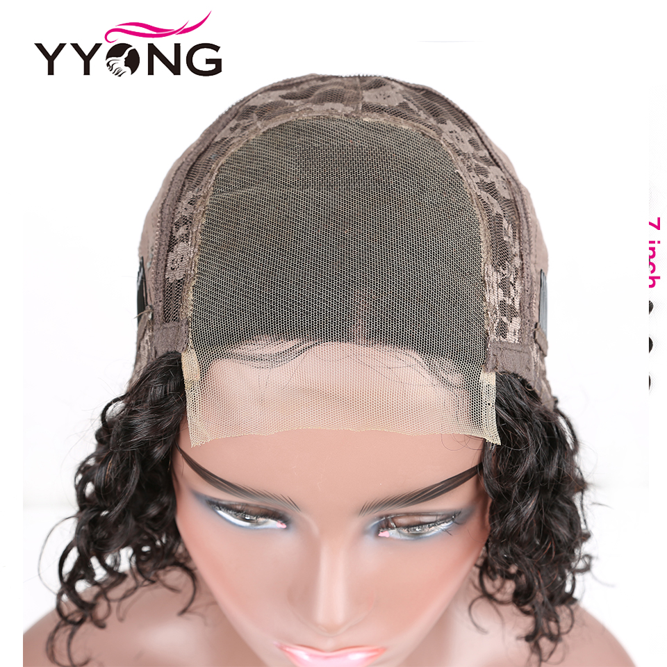 YYONG 6x1 Topline Lace & 4x4 Lace Closure  Bob Wigs  Water Wave  Short Bob Wig With Pre Plucked 4