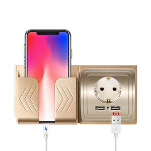 Image 3 - Herepow Розетка с 2мя USB портами для зарядки с заземлением и защитными шторками Электрическая розетка розетка с usb стеновые панели розетки настенные usb гнездо Розетка USB двойная Розетка настенная с USB в стену