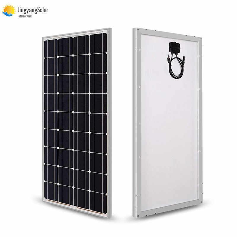 Panel Solar de cristal de 100w y 18V, celda solar monocristalina para cargador de batería de 12V, panel solar mono, barco para casa RV de 200w, 300w y 400w