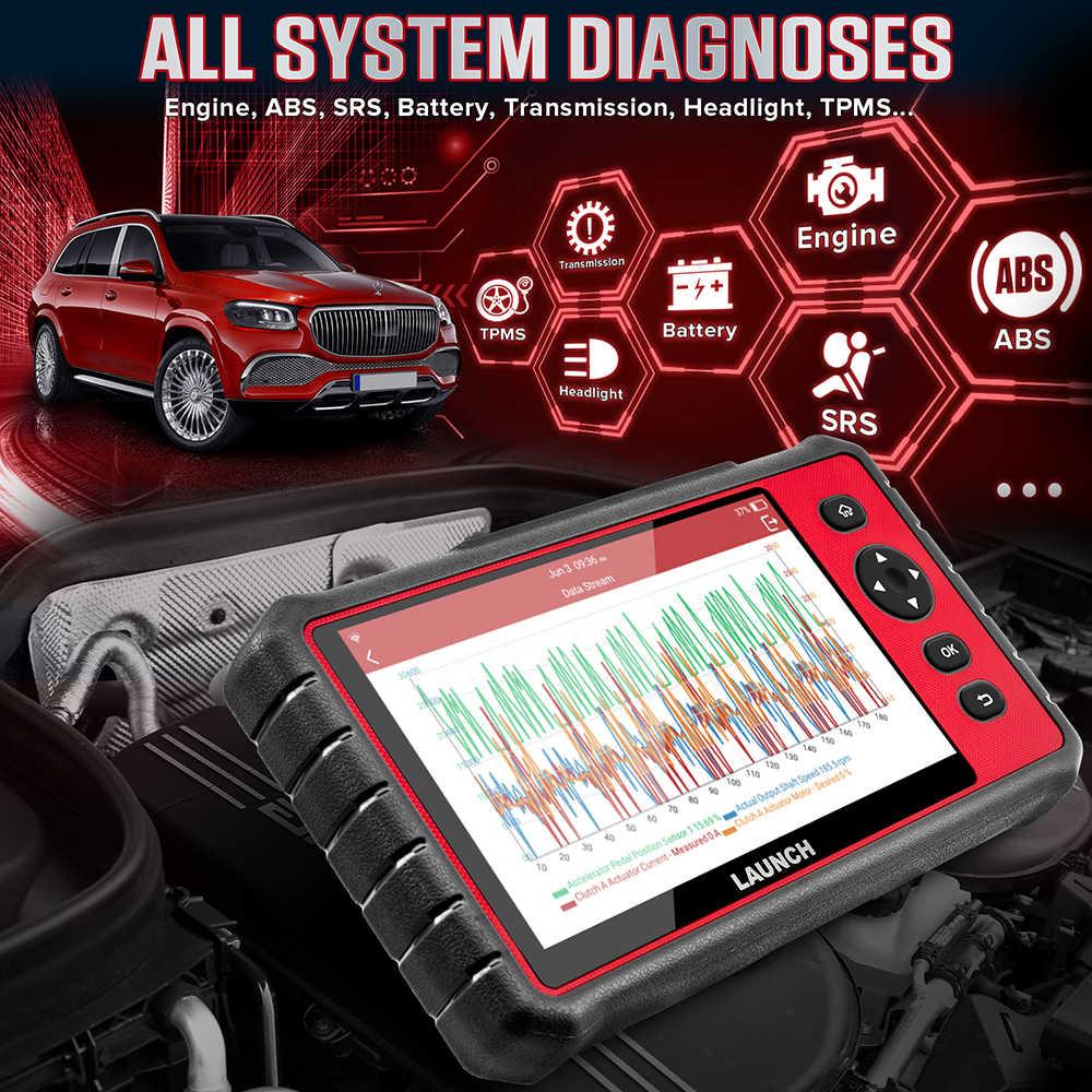 Uruchom X431 CRP909E OBD2 samochód pełny układ narzędzie diagnostyczne czytnik kodów z 15 Reset usługi aktualizacji Online CRP909 CRP909X