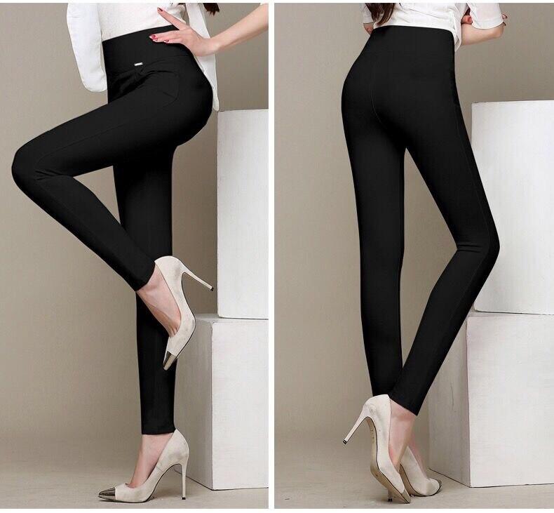 WKOUD Winter Leggings Women Plus Size High Waist Stretch Thick Legging Solid Skinny Warm Velvet Pencil Pants Lady Trousers