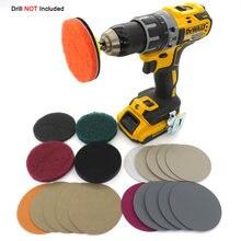 Kit de phares de voiture, avec lumières de polissage et restauration, outil de réparation de disques de ponçage de soins avec adaptateur de forage, pas de perceuse inclus, M16, (21 pièces), DIY