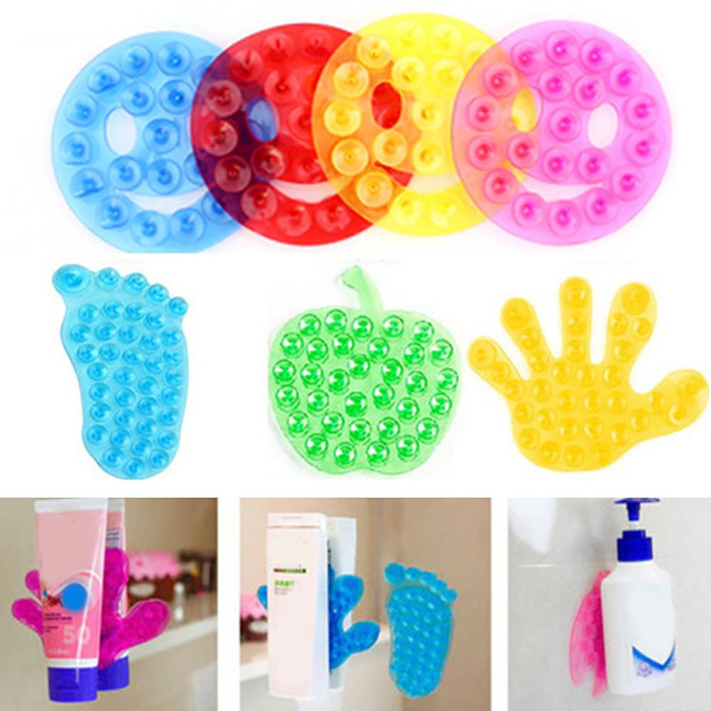 10Pcs Double Side Vacuum Suckers Suction Cup Toothbrush Soap Holder Shampoo New