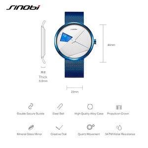 Image 5 - Sinobiブランドファッションクリエイティブメンズクォーツ時計ミラノストラップ腕時計高級ビジネス腕時計スポーツ腕時計レロジオmasculino