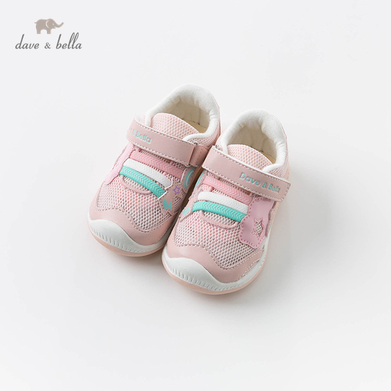 DB13734 Dave Bella Spring Baby Girl Pink Sport Shoes New Born Girl Casual Brand Shoes