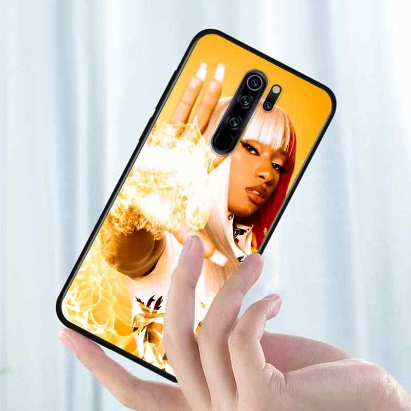Xiaomi Redmi için not 9 9S Max telefon kılıfı Megan üç aygır rapçi geri Xiaomi 8T 8 7 6 5 Pro 5A 4X 4 siyah telefon kapağı