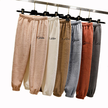 цена Boys Girls Casual Pants Toddler Bottom Thick Fleece Pants Spring Winter Kids Warm Loose Pants Baby Boy Embroidery BBebe Trousers онлайн в 2017 году