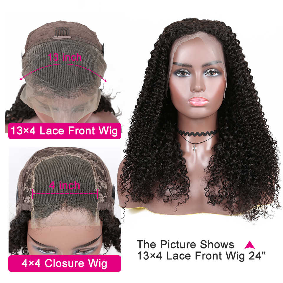 Yyong 13x4 brazylijski perwersyjne kręcone ludzkie włosy peruki koronki przodu włosów ludzkich peruka Remy koronki przodu peruki dla kobiet 30 32in niski stosunek 120