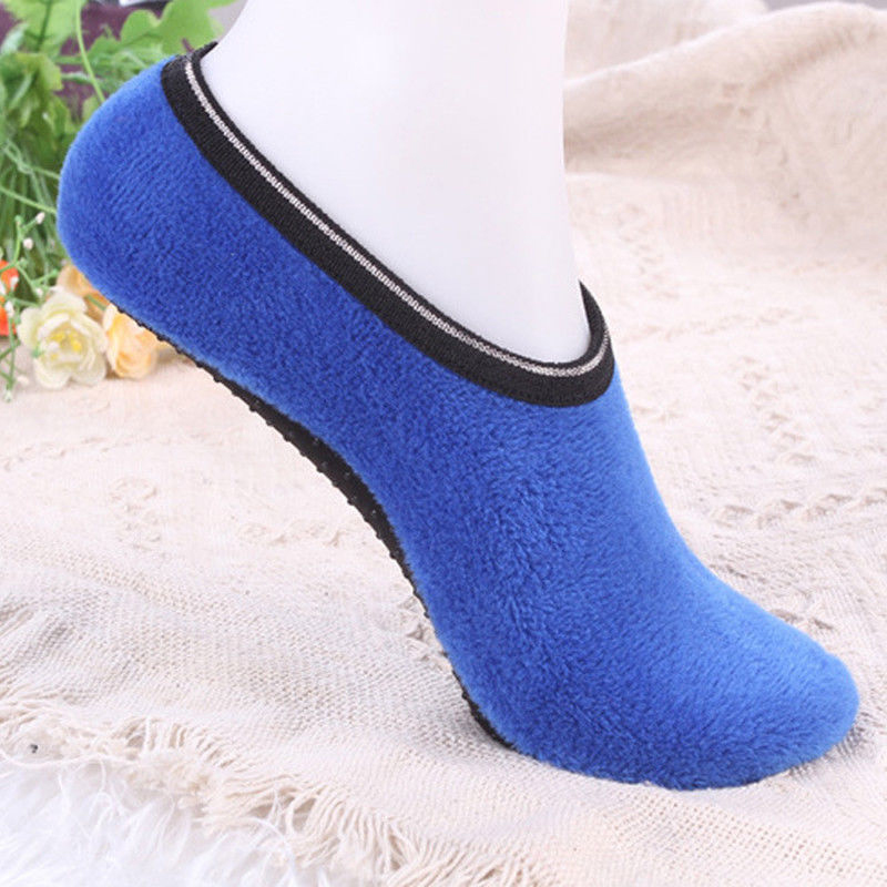 2020 Women Spring Autumn Winter Warm Soft Non Slip Short Indoor Fleece Floor Slipper Socks