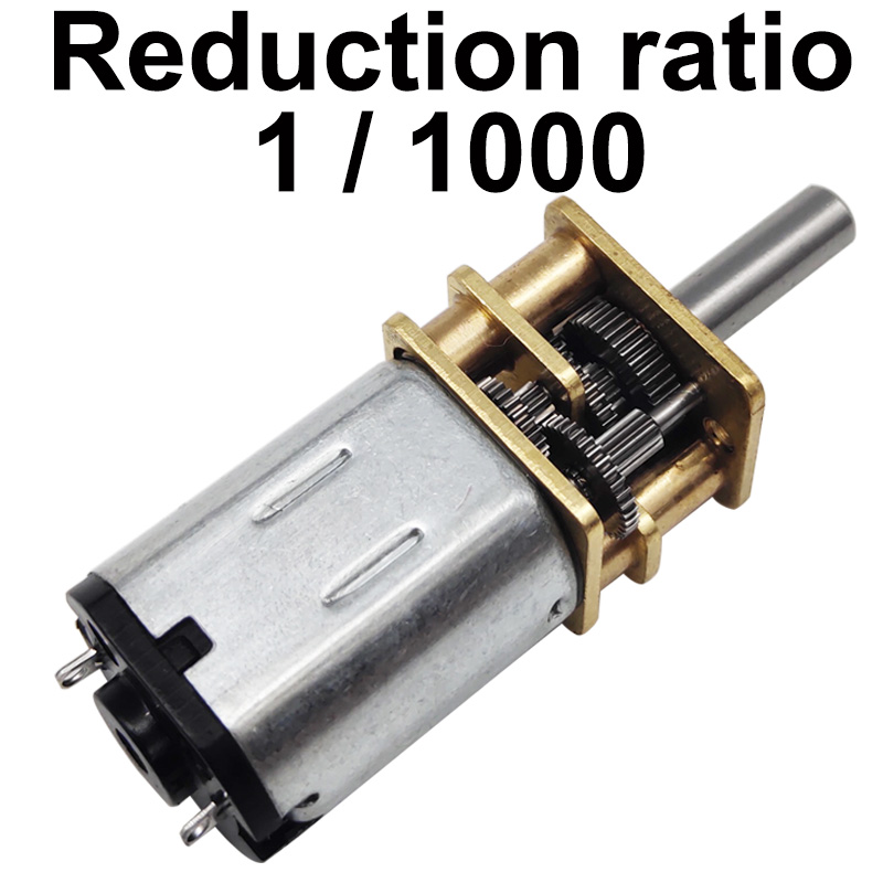 Small N20 <font><b>DC</b></font> Geared <font><b>Motor</b></font> <font><b>3V</b></font> 6V 12V Low Speed 5RPM-40RPM Reduction Ratio 1/1000 Mini <font><b>DC</b></font> <font><b>Motor</b></font> Reversed For DIY Toys Smart Device image