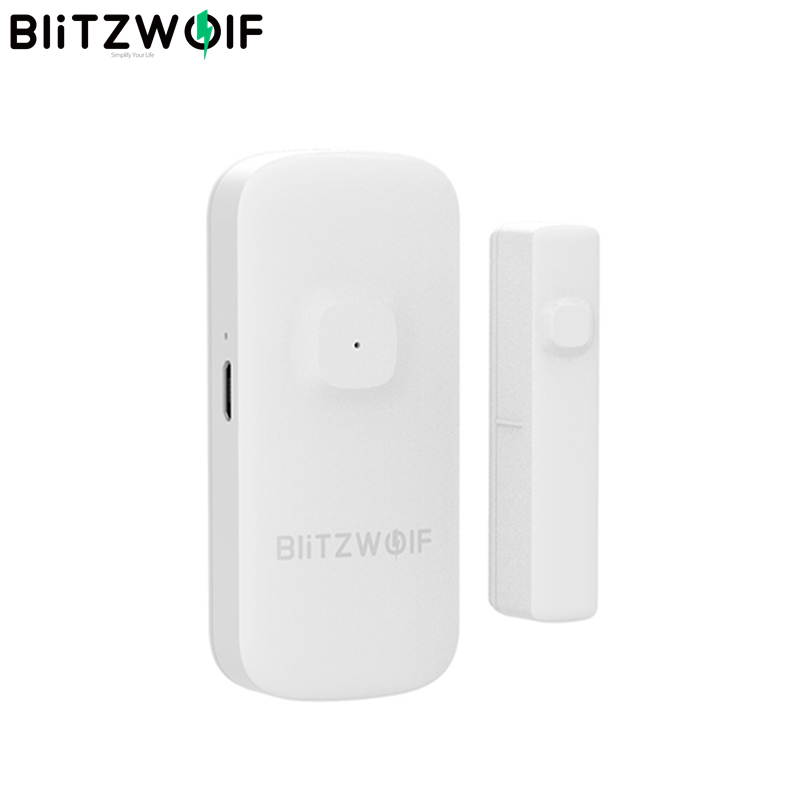 BlitzWolf BW-IS2 Zigbee smart Home, Smart Home Doors & Windows Sensor Open / Close APP Remote Home Alarm Safty Against Thef Smart Products and Equipment for Remote Control