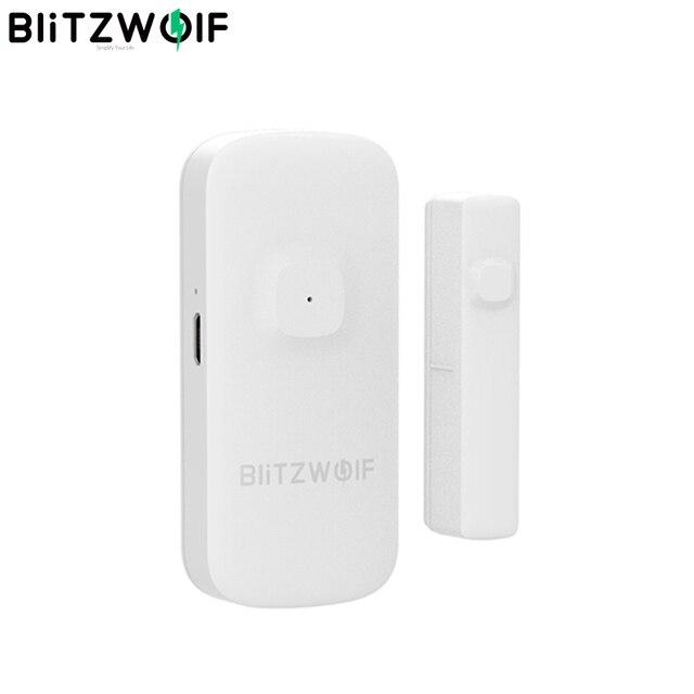 BlitzWolf BW IS2 Zigbee Smart Home Tür & Fenster Sensor Öffnen/Schließen APP Remote Alarm Home Safty Gegen Thef Smart fernbedienung-in Smarte Fernbedienung aus Verbraucherelektronik bei