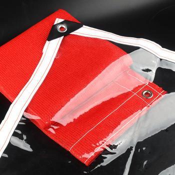 Niestandardowe 99 9 przezroczyste plandeki pcv plandeka namiotowa okna wiatroszczelne wodoodporne tkaniny schronienie jasne przeciwdeszczowe ogród Tarp żagle tanie i dobre opinie Tewango CN (pochodzenie) Odcień żagle obudowa nets NNW-DSPVCFYB Niepowlekany Waterproof Cloth Transparent 0 3mm Stronger Durable