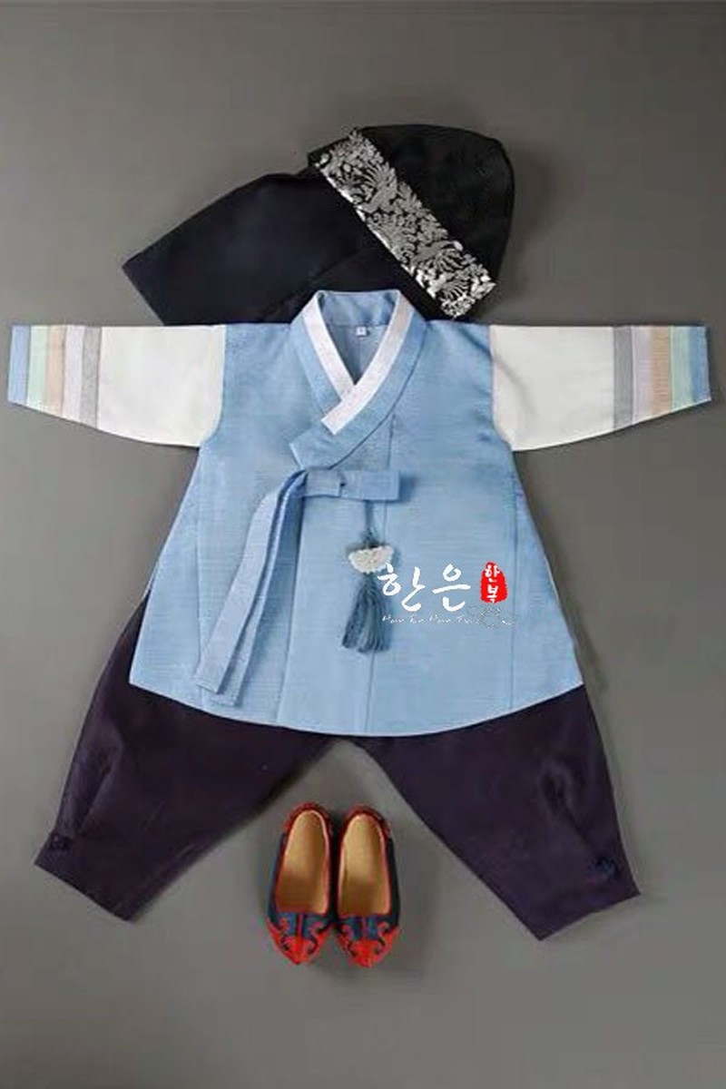 South Korea Imported Fabrics for Boys' First Birthday Korean Clothing Children's New Korean Clothing Costumes Outfit