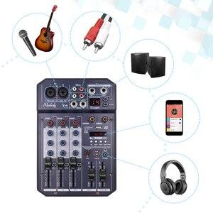 Image 5 - Muslady T4 Portatile 4 Channel Scheda Audio Mixing Console Mixer Audio Supporta Connessione BT Lettore MP3 Funzione di Registrazione per DJ
