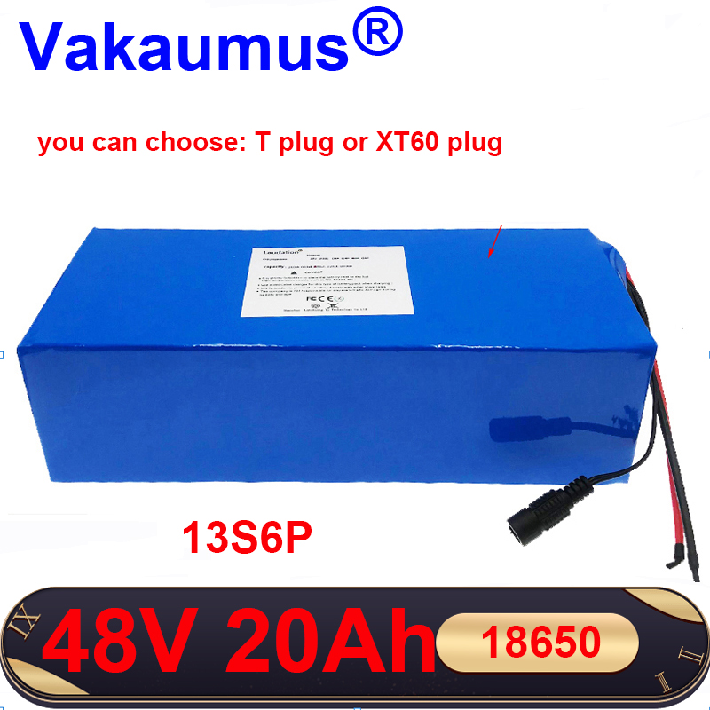 <font><b>48V</b></font> 20Ah <font><b>batery</b></font> pack Electric car battery 13s bms 18650 rechargeable battery pack built-in 30A BMS For electric bicycles MOTOR image