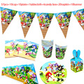 57 шт./компл. Sonic зубная щётка тематическая вечеринка на день рождения украшения чашки тарелки трубочки, принадлежности для вечеринки Baby shower ...