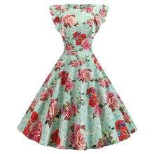 Las mujeres Vintage 1950s vestido de fiesta en Club damas vestido Floral vestidos