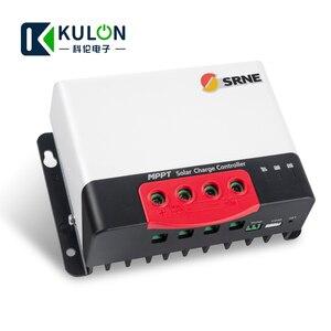 Image 4 - SRNE MC2420N10 20A 12v 24v make sky blue MPPT Solar Charge Controller for 18650 lithium batteries solar regulator