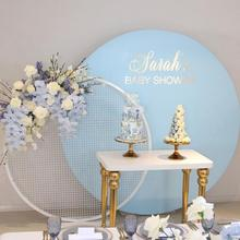 Allenjoy multiple solid color round backdrop cover birthday baby shower wedding photocall boda Custom background circle banner