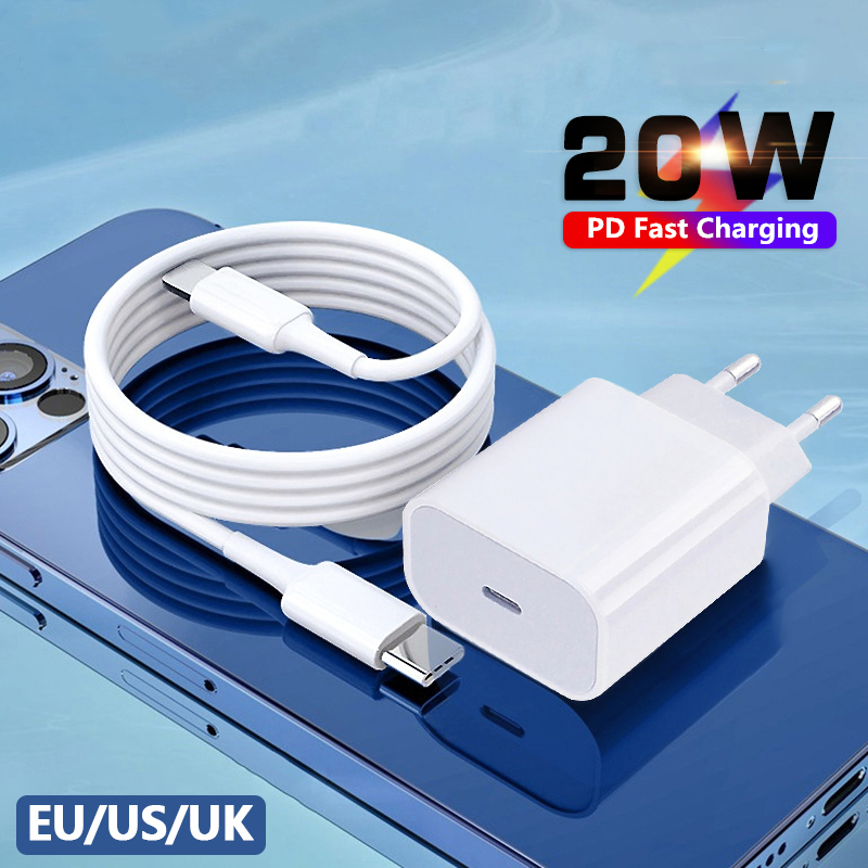 20W PD Fast Charger For iPhone 12 11 Xs Xr Pro Max 8 Usb C Adapter Charger Type C Quick Charging QC3.0 For Xiaomi Huawei