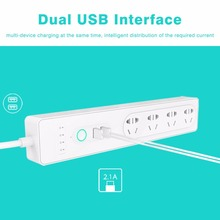 Wifi Intelligent APP Remote Control Socket AU Plug Alexa Voice Control Timing Switch Smart Separate Control Socket