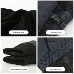 Image 4 - X TIGER Touch Screen Bike Gloves Winter Thermal Windproof Warm Full Finger Cycling Gloves Waterproof Bicycle Glove For Men Women