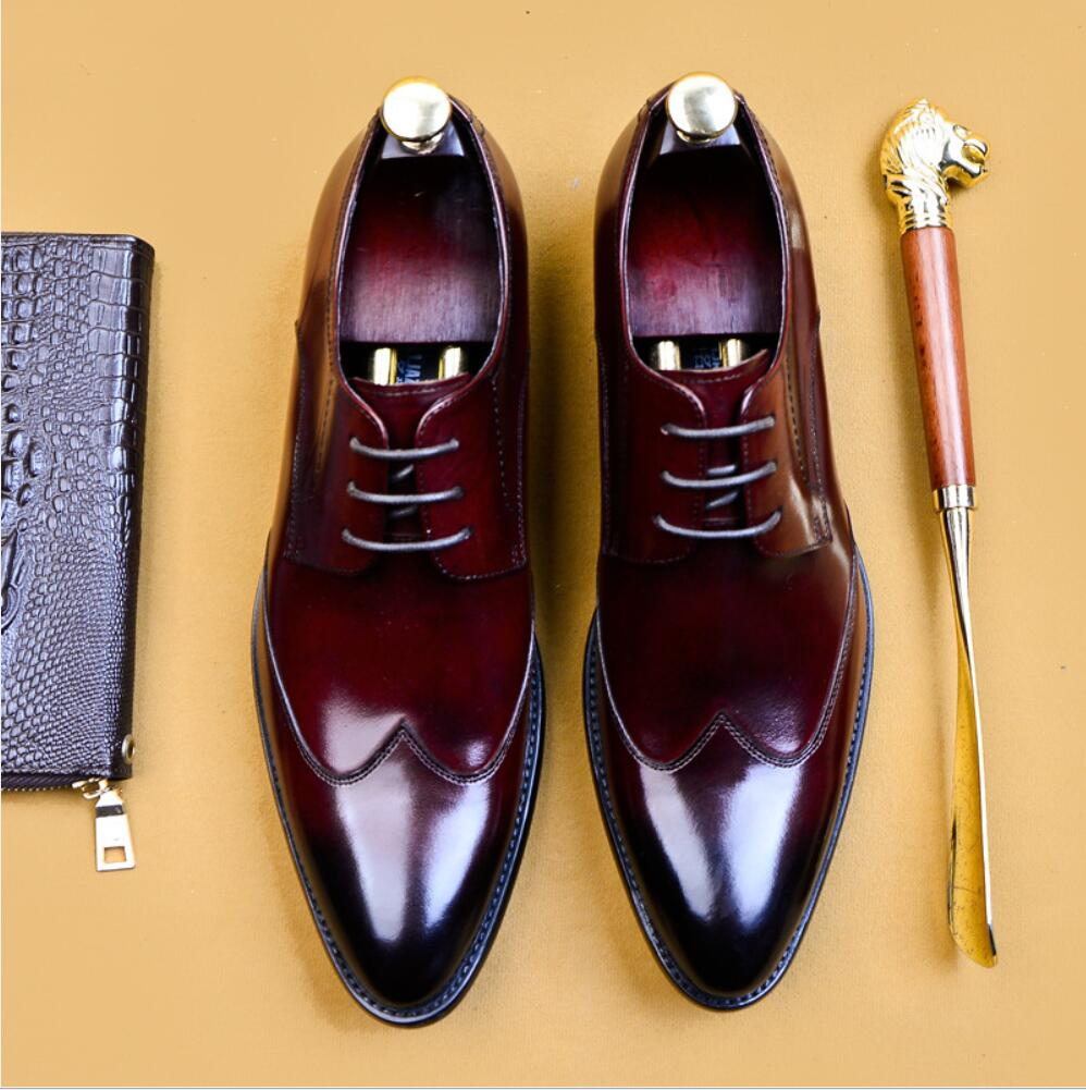 SIPRIKS 2020 High Quality Handmade Oxford Dress Shoes Men Genuine Cow Leather Suit Shoes Footwear Wedding Formal Italian Shoes