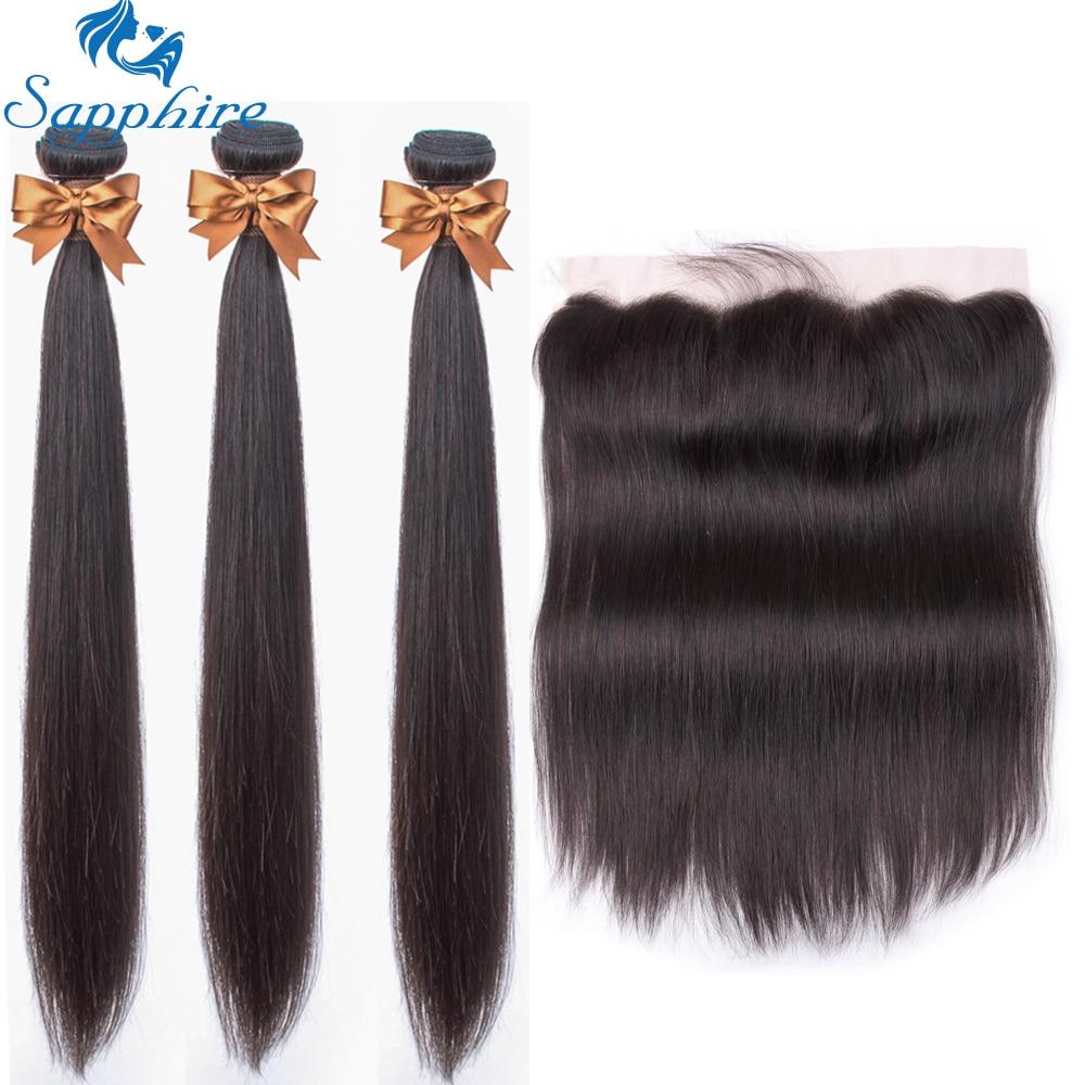H4e29b404dcf4471992652c0ccdd4eae6R Sapphire Straight Hair Frontal With Bundles Human Hair Bundles With Frontal Brazilian Hair Weave Bundles With Closure Frontal