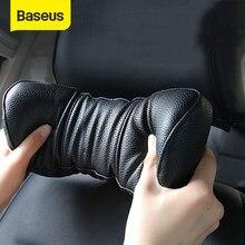 Baseus – oreiller de voiture universel 3D en mousse à mémoire de forme, oreiller chaud pour le cou, en cuir PU, appui-tête pour siège de voiture, accessoires automobiles