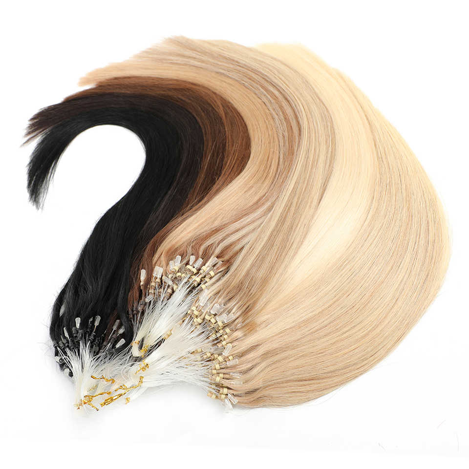 "Mrshair Micro Ring Hair Extensions 1G/Stand 50 Stuks Machine Remy Haar Micro Bead Loop Human Hair 14 "" - 24"""