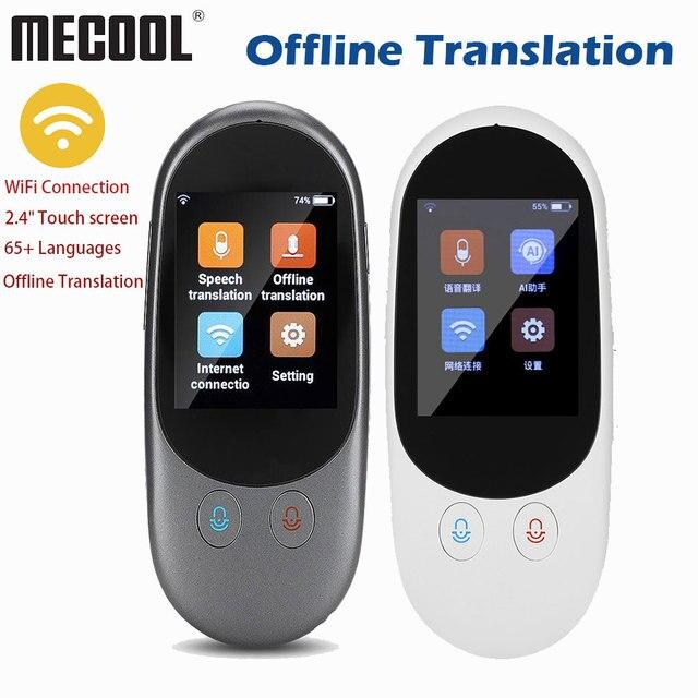 Портативный голосовой переводчик, Мини карманный, в режиме реального времени, многоязычный, автономный, Wi Fi, онлайн, дорожный переводчик