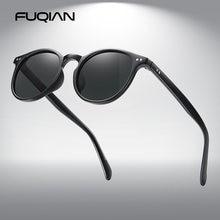 Модные круглые поляризационные солнцезащитные очки fuqian для