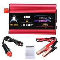 Inverter 12v 220v 2000W/3000W DC 24V to AC 220V Car Power Solar Inverter Modified Sine Wave Car Charger USB Converter Adapter