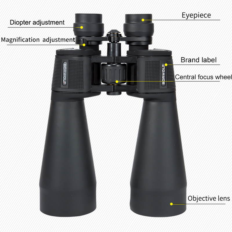 2020 NEW Borwolf  20-60X70 Binoculars  High Magnification HD Professional Zoom High Clear Telescope Military Light Night Vision 3