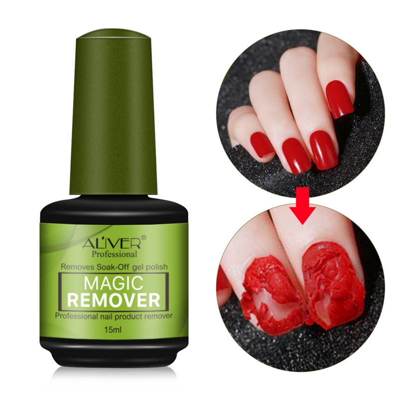 15ml Nail Polish Remover Portable Non-stimulation Fast Nails Cleaner Removal Gel Tool