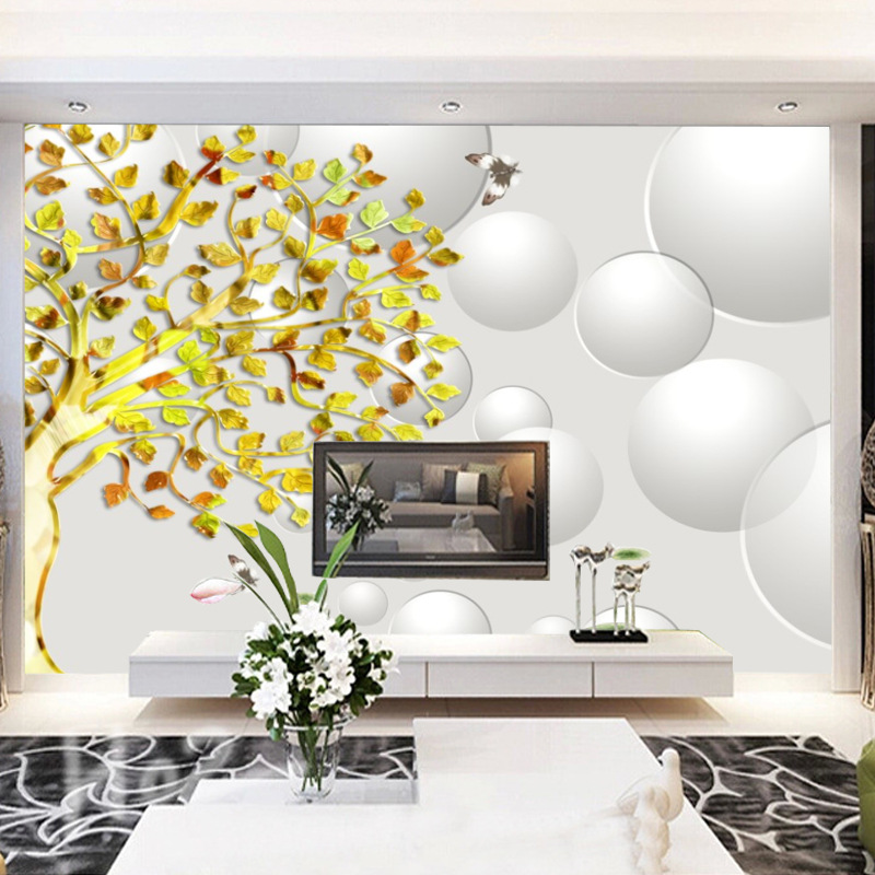 Modern Minimalist 3D TV Backdrop Seamless Wallpaper Mural Sofa Living Room Wallpaper Wall Cloth