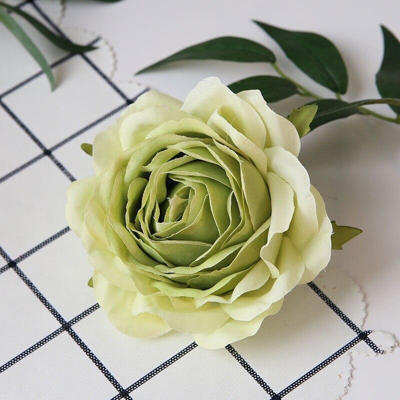 10шт/много 9см высокой ранга красные розы искусственные цветы для свадьбы украшения поддельные скрапбукинг цветочный венок аксессуары для дома
