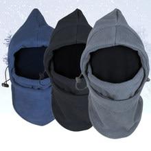 Masque facial chaud d'hiver en molleton thermique, cagoule, capuchon anti-vent et anti-sable