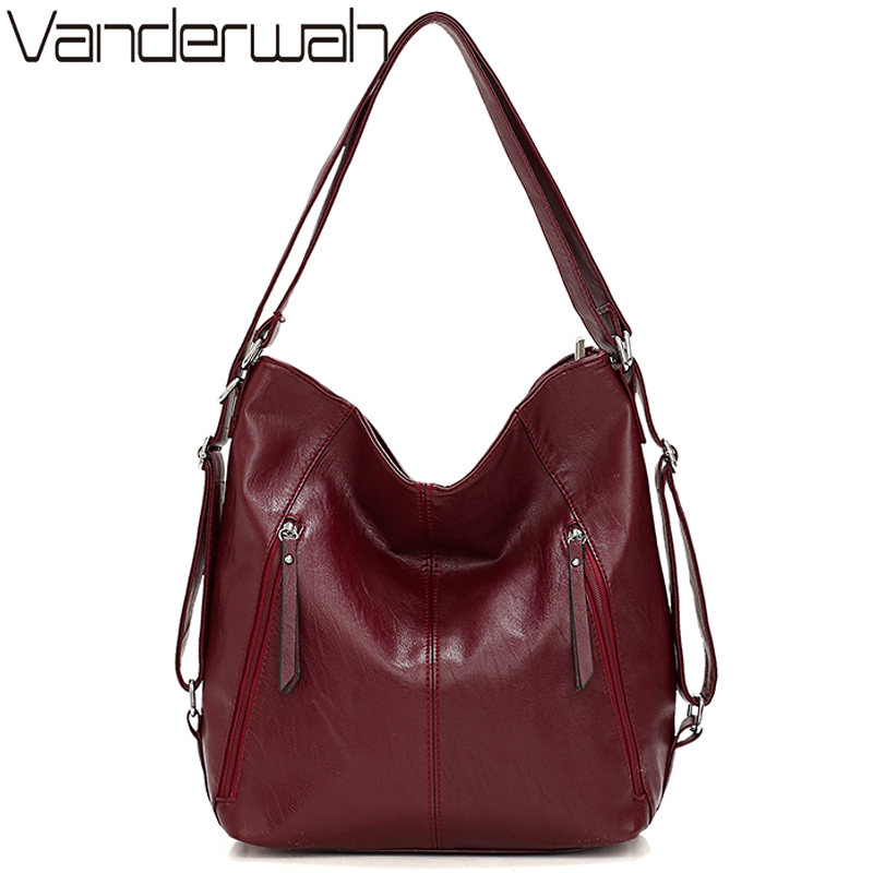 New Half Moon Soft PU Leather Shoulder Bags For Women Casual Large Capacity Bag Luxury Hand Bags Women Bags Designer Sac A Main